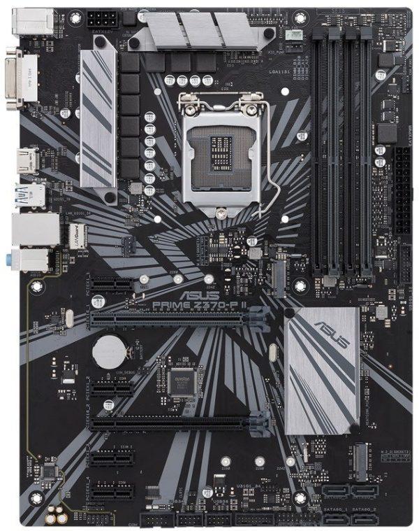 Placa de baza ASUS skt. LGA1151, PRIME Z370-P II, 4x DIMM DDR4 4000 (O.C.)MHz Non-ECC, 1x HDMI/ DVI, 2x PCIe 3.0/2.0 x16, 4x PCIe 3.0/2.0 x1, 4x SATA 6Gb/s, Realtek RTL8111H Gigabit LAN, Realtek ALC887, 8x USB 3.1, 6x USB 2.0, ATX