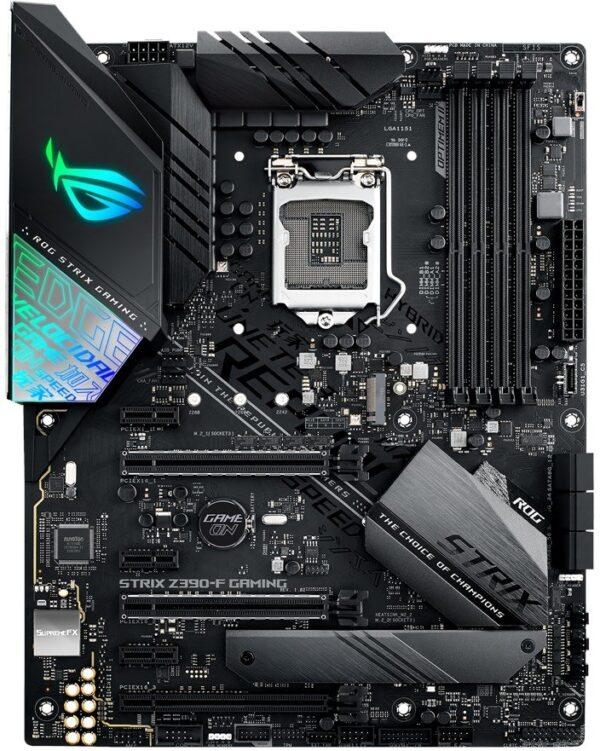 "PLACA de BAZA ASUS ROG STRIX Z390-F GAMING, skt LGA 1151, Intel Z390, ATX, slot RAM 4 x DDR4, max 64 GB, 6x S-ATA 3, 2x M.2, 3x PCI-E, PCI-E3.0x16 x 1, PCI-E3.0x8 x 1, PCI-E2.0x4 x 1, LAN 1000 Mbps, Display Port, HDMI, 7.1, ""ROG STRIX Z390-F GAMING"""