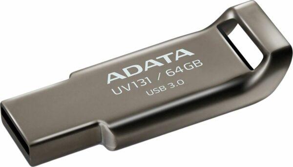 "MEMORIE USB 3.2 ADATA 64 GB, profil mic, carcasa aliaj zinc, gri, ""AUV131-64G-RGY"" (include TV 0.02 lei)"