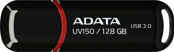 """MEMORIE USB 3.2 ADATA 128 GB, cu capac, carcasa plastic, negru, """"AUV150-128G-RBK"""" (include TV 0.02 lei)"""