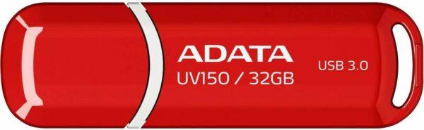 """MEMORIE USB 3.2 ADATA 32 GB, cu capac, carcasa plastic, rosu, """"AUV150-32G-RRD"""" (include TV 0.02 lei)"""
