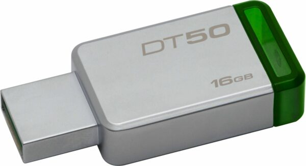 "MEMORIE USB 3.1 KINGSTON 16 GB, profil mic, carcasa metalic, argintiu, ""DT50/16GB"" (include TV 0.02 lei)"