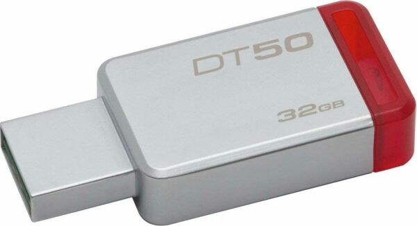 "MEMORIE USB 3.1 KINGSTON 32 GB, profil mic, carcasa metalic, argintiu, ""DT50/32GB"" (include TV 0.02 lei)"