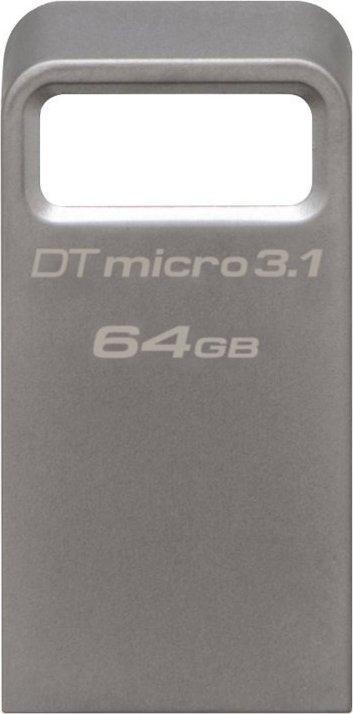 "MEMORIE USB 3.1 KINGSTON 64 GB, profil mic, carcasa metalic, argintiu, ""DTMC3/64GB"" (include TV 0.02 lei)"