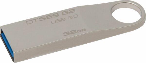 "MEMORIE USB 3.0 KINGSTON 32 GB, clasica, carcasa metalic, argintiu, ""DTSE9G2/32GB"" (include TV 0.02 lei)"