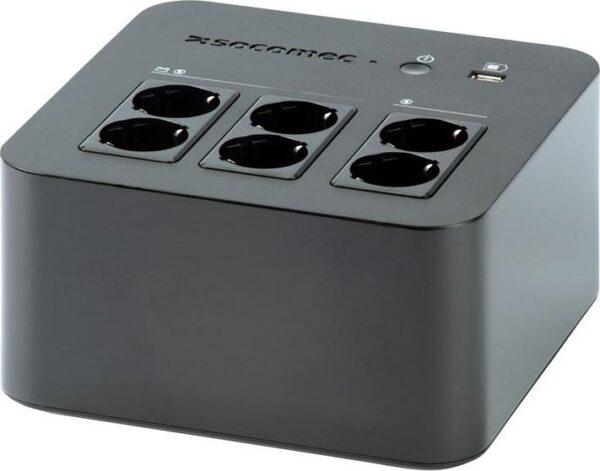 """UPS SOCOMEC Line Int. cu management, brick, 600VA/ 360W, AVR, 6 x socket Shucko, indicatie status cu LED, 1 x baterie 12V/7A, Backup 15 min, incarcare 8h, conector USB, USB charger, """"Netys PL 600VA"""" """"NPL-0600-D"""""""