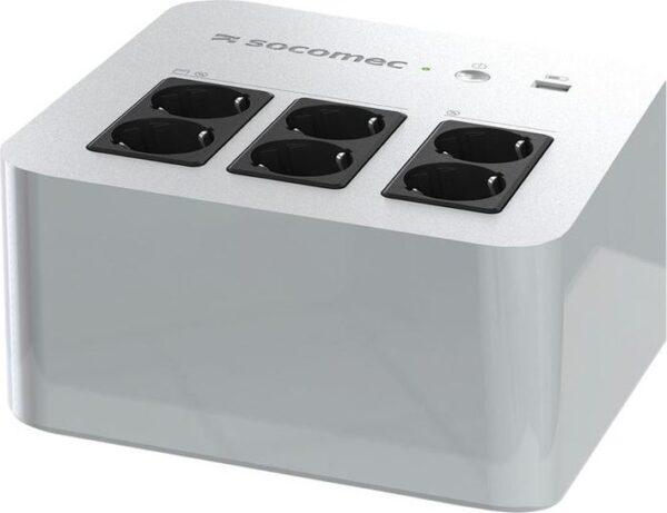 """UPS SOCOMEC Line Int. cu management, brick, 800VA/ 480W, AVR, 6 x socket Shucko, indicatie status cu LED, 1 x baterie 12V/9A, Backup 20 min, incarcare 8h, conector USB, USB charger, """"Netys PL 800VA"""" """"NPL-0800-D"""""""