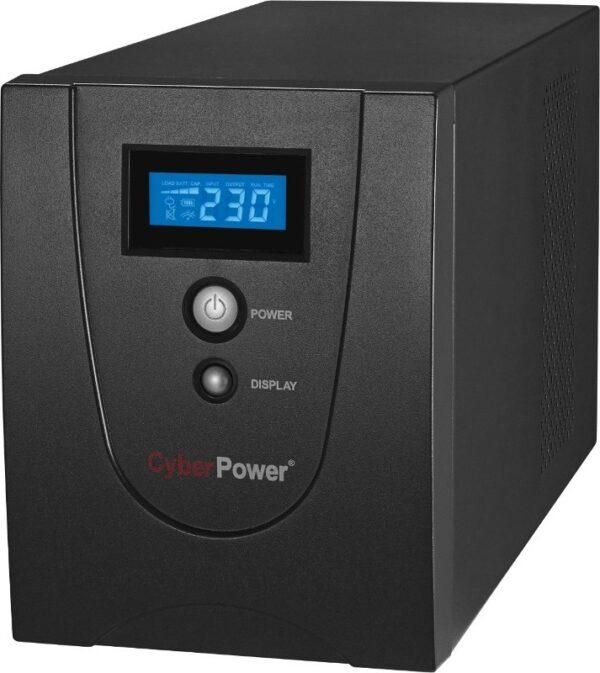 "UPS CYBER POWER Line Int. cu management, LCD, tower, 2200VA/ 1320W, AVR, 6 x socket IEC, display LCD, 2 x baterie 12V/9Ah, Backup 1 – 6 min, incarcare 8h, USB, RS232, combo RJ45, GreenPower (Energy Saving), ""VALUE2200EILCD"" (include TV 23 lei)"