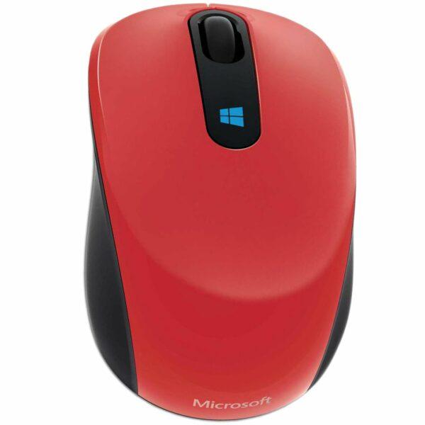"""MOUSE MICROSOFT PC sau NB, wireless, 2.4 GHz, optic, 1000 dpi, butoane/scroll 3/1, rosu, """"MOBILE SCULPT"""" """"43U-00025"""""""