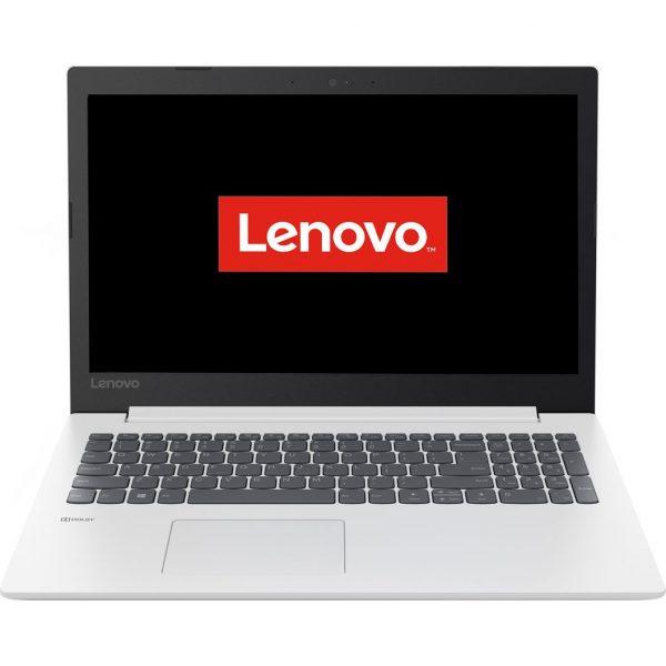 "Notebook Lenovo, 15.6″, i3 6006U, 8 GB DDR4, SSD 256GB, Intel HD 520, partajata, Free DOS, tastatura numerica, 2.0 – 2.5 Kg, alb,""81DC00M3RM"