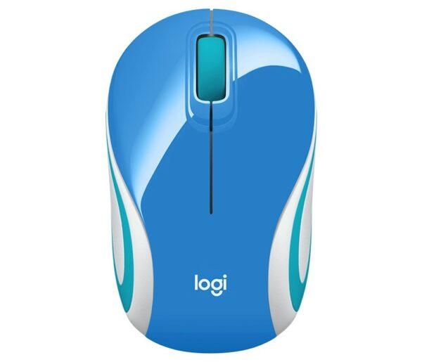 "MOUSE LOGITECH PC sau NB, wireless, 2.4 GHz, optic, 1000 dpi, butoane/scroll 3/1, albastru, ""M187"" ""910-002733"""