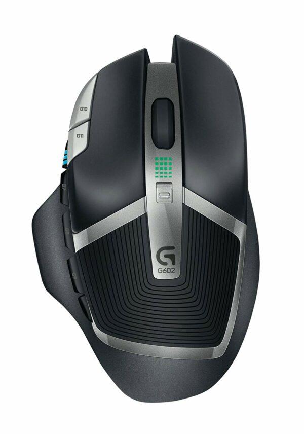 "MOUSE LOGITECH gaming, wireless, 2.4 GHz, optic, 2500 dpi, butoane/scroll 11/1, negru/ argintiu, butoane programabile, ""G602"" ""910-003822"""