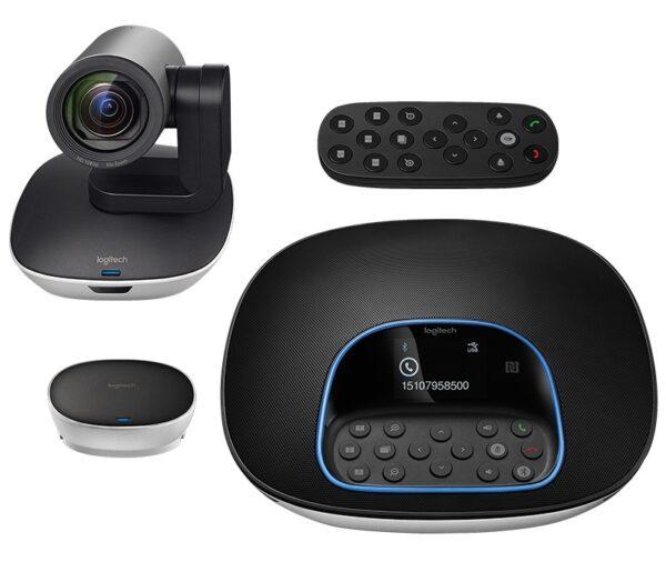 """KIT CONFERINTA LOGITECH, Camera Web HD 1080p + Difuzor cu multiple functii, """"GROUP Video ConferenceCam"""" """"960-001057"""" (include TV 0.15 lei)"""