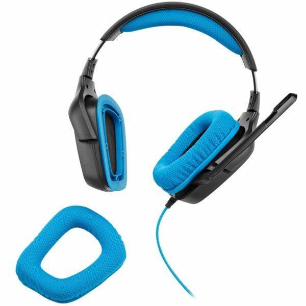 "CASTI Logitech, ""G430"", cu fir, gaming, utilizare multimedia, microfon pe brat, conectare prin Jack 3.5 mm x 2, USB 2.0, negru / albastru, ""981-000537"", (include TV 0.75 lei)"