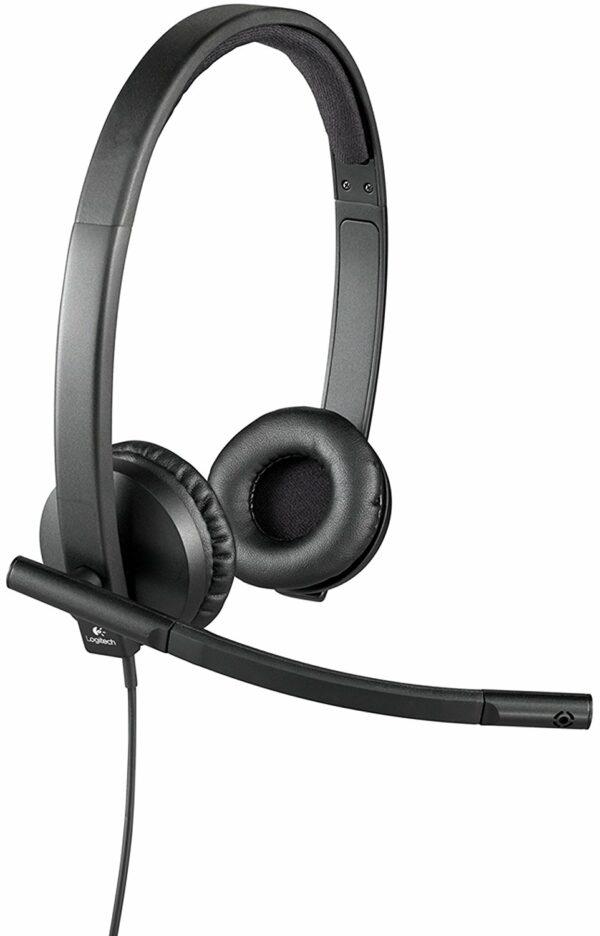 "CASTI LOGITECH cu microfon ""H570e"", conexiune USB, ""981-000575"" (include TV 0.75 lei)"