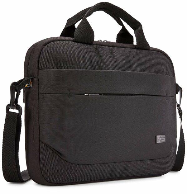 """GEANTA CASE LOGIC, pt. notebook de max. 11.6 inch, 1 compartiment, buzunar frontal x 2, waterproof, poliester, negru, """"ADVA-111 BLACK"""""""
