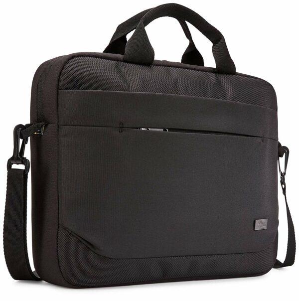 """GEANTA CASE LOGIC, pt. notebook de max. 14″, 1 compartiment, buzunar frontal x 2, waterproof, poliester, negru, """"Advantage"""", """"ADVA-114 BLACK"""" / 3203986"""