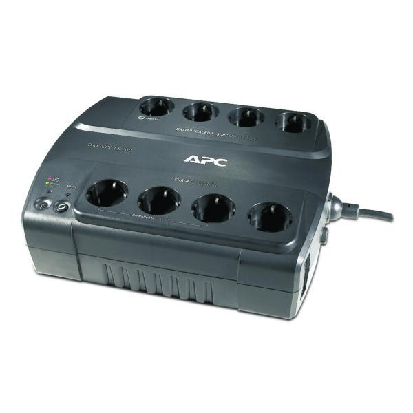 "UPS APC Back-UPS ES stand-by 700VA / 405W 8 conectori Schuko CEE7 ,baterie RBC17, optional extindere garantie cu 1/3 ani (WBEXTWAR1YR-SP-01/WBEXTWA R3YR-SP-01) ""BE700G-GR"""