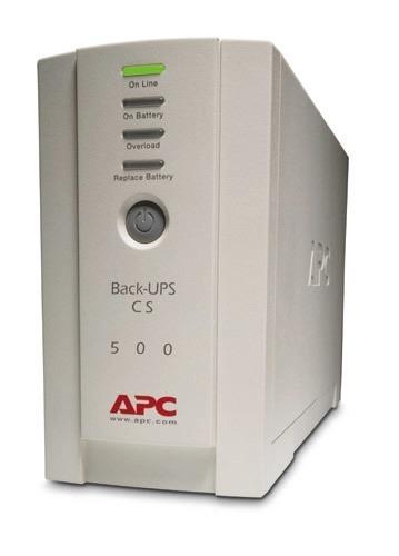 UPS APC Back-UPS CS stand-by 500VA / 300W 4 conectori C13, baterie RBC2 ,optional extindere garantie cu 1/3 ani (WBEXTWAR1YR-SP-01/WBEXTWAR3YR-SP-01)