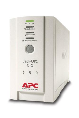 "UPS APC, ""Back-UPS CS"", Line Int. cu management, mini tower, 650VA/400W, IEC x 4, 1 x baterie RBC17, LED, back-up 11 – 20 min., ""BK650EI"",SP prelungire garantie (WBEXTWAR1YR-SP-01/W BEXTWAR3YR-SP-01),"