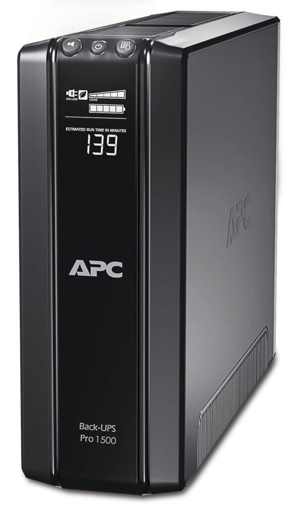 UPS APC Back-UPS RS line-interactive / aprox.sinusoida 1500VA / 865W 10conectori C13, baterie APCRBC124, optional extindere garantie cu 1/3 ani(WBEXT WAR1YR-SP-01/WBEXTWAR3YR-SP-01)
