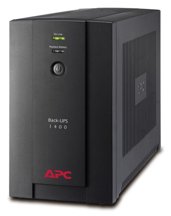 "UPS APC, ""Back-UPS BX"", Line Int. , mini tower, 1400VA/700W, AVR, Schuko x 4, LED, back-up 11 – 20 min., ""BX1400U-GR"", SP prelungire garantie(WBEXTWAR1YR-SP-01/WBEXTWAR3YR-SP-01),"