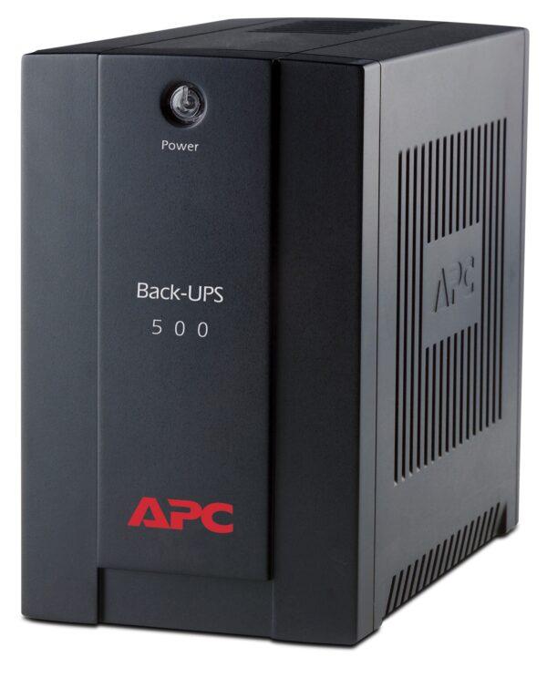 UPS APC Back-UPS BX line-interactive / aprox.sinusoida 500VA / 300W 3conectori C13, optional extindere garantie cu 1/3 ani (WBEXTWAR 1YR-SP-01/WBEXTWAR3YR-SP-01)