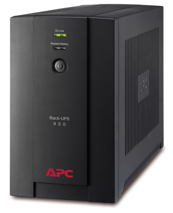 "UPS APC, ""Back-UPS BX"", Line Int. , mini tower, 950VA/480W, AVR, Schuko x 4, LED, back-up 1 – 10 min., ""BX950U-GR"", SP prelungire garantie(WBEXTWAR1YR-SP-01/WBEXTWAR3YR-SP-01),"