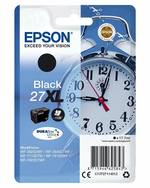 "Cartus Cerneala Original Epson Black, nr.27XL, pentru WorkForce WF-7110|WF-7610, 1.1K, incl.TV 0.11 RON, ""C13T27114012"""