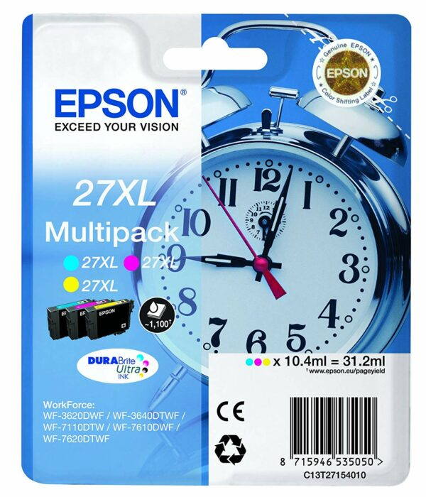 "Cartus Cerneala Original Epson CMY, T27154012, pentru WorkForce WF-7110|7610, , incl.TV 0.11RON, ""C13T27154012"""