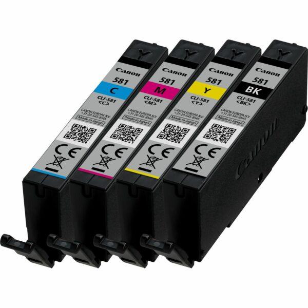 "Combo-Pack Original Canon CMYK, CLI-581C/M/Y/BK, pentru Pixma TR7550 TR8550 TS6150 TS6250 TS705 TS8150 TS8250 TS9150 TS9155 TS9550, , incl.TV 0.11 RON, ""2103C004AA"""