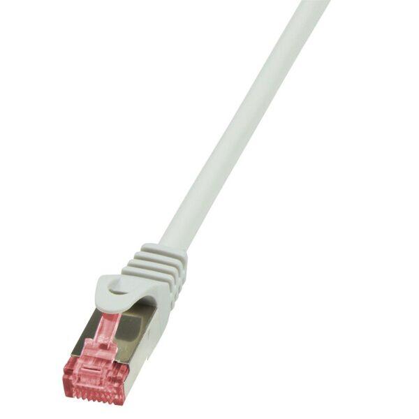"""PATCH CORD S/FTP LOGILINK Cat6, LSZH, cupru, 2 m, gri, AWG27, dublu ecranat """"CQ2052S"""""""
