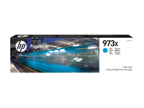 "Cartus Cerneala Original HP Cyan, nr.973x, pentru PageWide Pro 452|Pro 477, , incl.TV 0.11RON, ""F6T81AE"""