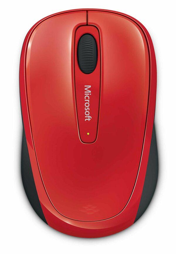 "MOUSE MICROSOFT, ""Mobile 3500"", PC sau NB, wireless, 2.4GHz, optic, 1000 dpi, butoane/scroll 3/1, , rosu, ""GMF-00195"" (include TV 0.15 lei)"