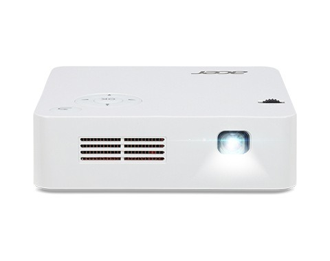 """PROIECTOR ACER Light output 300 Lumen, Native resolution 854×480, Contrast 5000:1, 1xHDMI, 1xAudio-Out, Speakers Mono, Lamp life 20000 hours, Noise level, max 29 dB, Included Accessories AC to DC Power Adapter """"MR.JR011.001"""""""