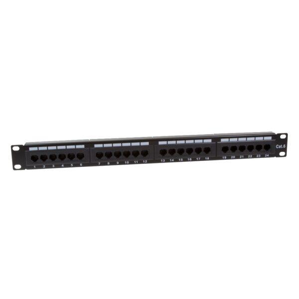 """PATCH PANEL LOGILINK 24 porturi, UTP, Cat6, 1U pentru rack 19″, black, """"NP0004"""""""