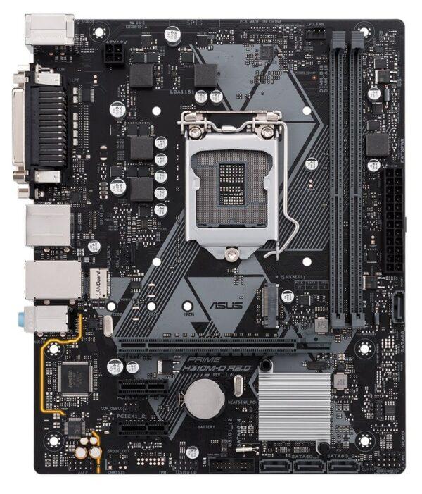 "PLACA de BAZA ASUS PRIME H310M-D R2.0, skt LGA 1151, Intel H310, mATX, slot RAM 2 x DDR4, max 32 GB, 4x S-ATA 3, 1x M.2, 2x PCI-E, PCI-E3.0x16 x 1, LAN 1000 Mbps, HDMI, VGA, 7.1, ""PRIME H310M-D R2.0"""