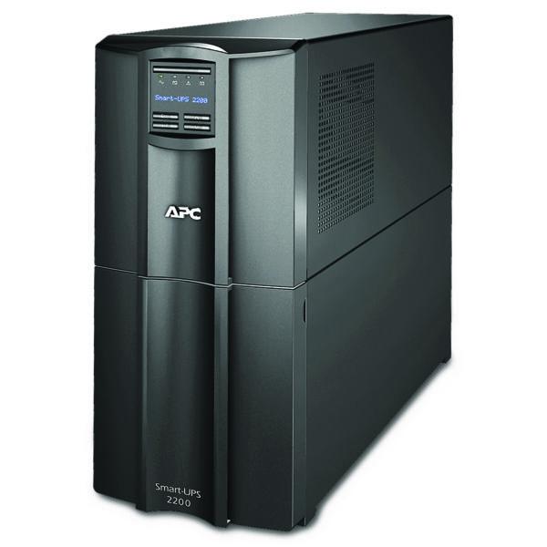 "UPS APC, ""Smart-UPS SMT"", Line Int. cu sinusoida pura cu management, tower, 2200VA/1980W, AVR, IEC x 8, 1 x baterie RBC55, display LCD, back-up 11 – 20 min., ""SMT2200IC"", SP prelungire garantie(WBEXTWAR1YR-SP-03/WBEXTWAR3YR-SP-03),"