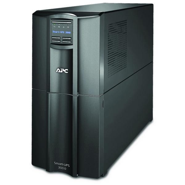 "UPS APC, ""Smart-UPS SMT"", Line Int. cu sinusoida pura cu management, tower, 3000VA/2700W, AVR, IEC x 8, 1 x baterie RBC55, display LCD, back-up 11 – 20 min., ""SMT3000I"", SP prelungire garantie(WBEXTWAR1YR-SP-04/WBEXTWAR3YR-SP-04),"