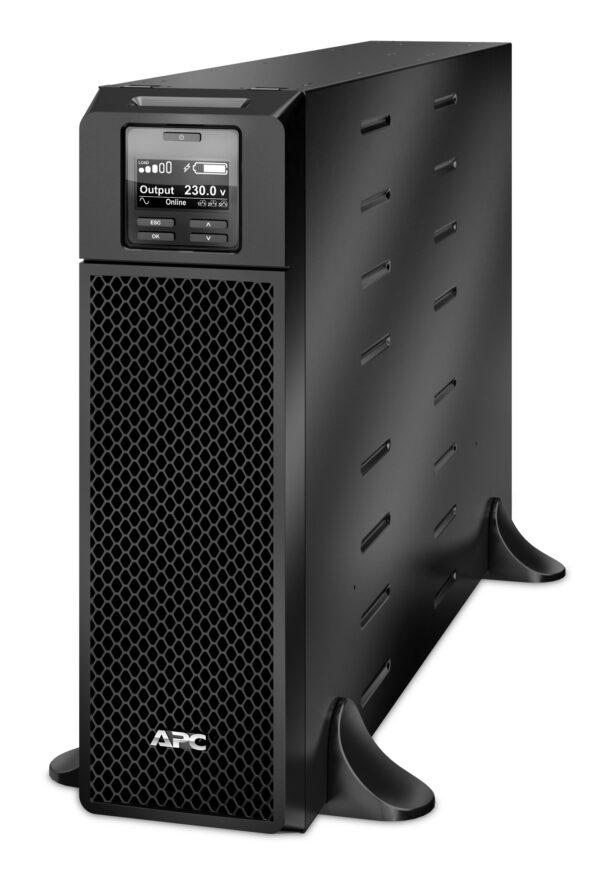 "UPS APC, ""Smart-UPS SRT"", Online cu sinusoida pura, tower, 5000VA / 4500W, AVR, IEC x 10, 1 x baterie APCRBC140, display LCD, back-up 1 – 10 min., ""SRT5KXLI"", SP prelungire garantie (WBEXTWAR1YR-SP-05/WBEXTWAR3YR-SP-05),"