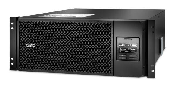 "UPS APC, ""Smart-UPS SRT"", Online cu sinusoida pura, rack, 6000VA / 6000W, AVR, IEC x 10, 1 x baterie APCRBC140, display LCD, back-up 1 – 10 min., ""SRT6KRMXLI"", SP prelungire garantie(WBEXTWAR1YR-SP-05/WBEXTWAR3YR-SP-05),"