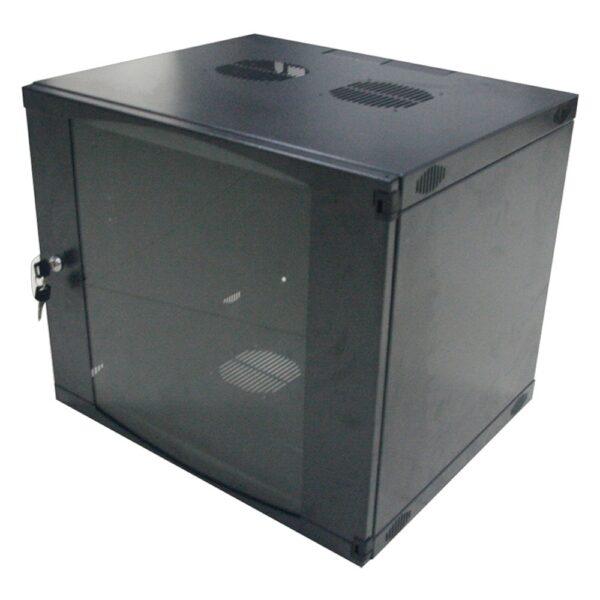 """CABINET 19″ LOGILINK 15U, fixare pe perete, Flatpack (dezasamblat), Black, 725 (h) x 540 (w) x 450 (d) mm, usa sticla cu blocare, otel 1.2mm, sarcina maxima 30Kg, """"W15F64B"""""""