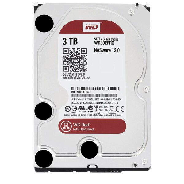 """HDD WD 3TB, 5400 64MB S-ATA3 pt. NAS, RED, """"WD30EFRX"""""""