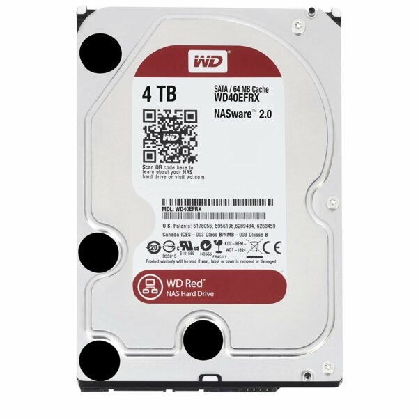 "HDD WD 4 TB, Red, 5.400 rpm, buffer 64 MB, pt. NAS, ""WD40EFRX"""