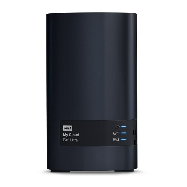 """NAS CPU Marvell ARMADA 385 1.3 GHz dual-core, Drives/bays 2, FTP Server, Desktop/pedestal, 2xUSB 3.0, 1xRJ45, Memory 1 GB, DDR3, HDD Capacity 4TB, File System EXT4, Included Accessories Ethernet cable,Power supply, """"WDBVBZ0040JCH-EESN"""""""