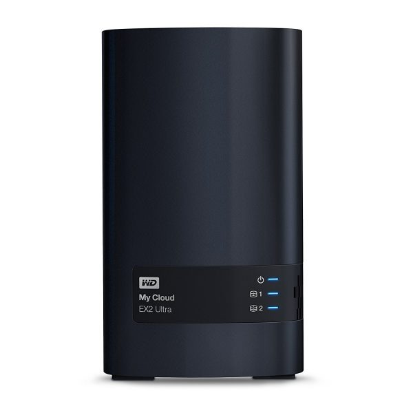 """NAS Ready-to-go, CPU Marvell ARMADA 385 1.3 GHz dual-core, Drives/bays 2, FTP Server, Desktop/pedestal, 2xUSB 3.0, 1xRJ45, Memory 1 GB, DDR3, HDD Capacity 16TB, File System EXT4, Included Accessories Ethernet cable,Power supply """"WDBVBZ0160JCH-EESN"""""""