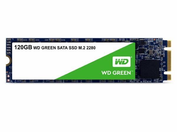 "SSD WD, Green, 120 GB, M.2, S-ATA 3, 3D TLC Nand, R/W: 540/430 MB/s, ""WDS120G2G0B"""