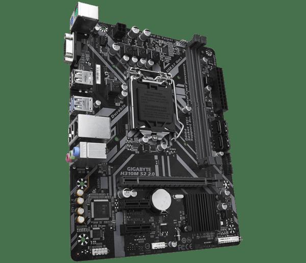 "Placa de baza GIGABYTE skt. LGA1151, H310M S2 2.0, 2*DDR4 2666/2400/2133MHz memory modules, 1x D-sub/HDMI, 1x PCI Express x16 slot, 2x PCIe x1 Slot, 4x SATA 6Gb/s, LAN chip (10/100/1000), 4x USB 3.1 (2x front/ 2x back), 6x USB 2.0, mATX ""H310M S2 2.0"
