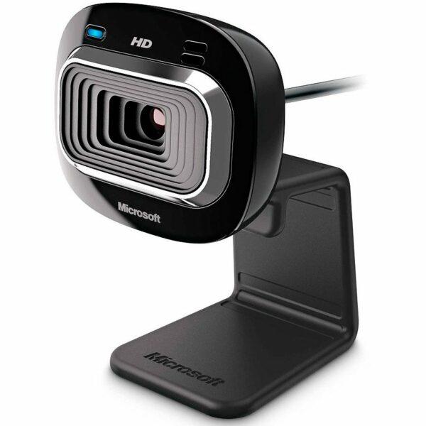 """CAMERA WEB MICROSOFT senzor 720 HD cu rezolutie video 1280×720, """"LifeCam HD-3000"""", microfon, negru, """"T3H-00012"""""""