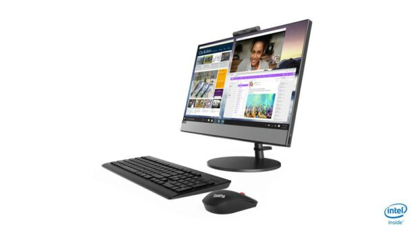 """All-in-One Lenovo V530 21.5 FHD (1920×1080), IPS, Non-Touch, Intel Core I5-8400T (1.7GHz, up to 3.3GHz, 9MB), video integrat Intel UHD Graphics 630, RAM 8GB DDR4 2666MHz (1x8GB), 256GB SSD M.2 PCIe, SLIM DVD, DOS """"10US000ERI"""""""
